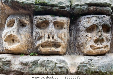 Scary Stone Heads