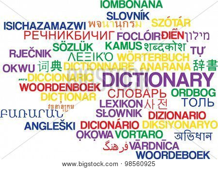 Background concept wordcloud multilanguage international many language illustration of dictionary