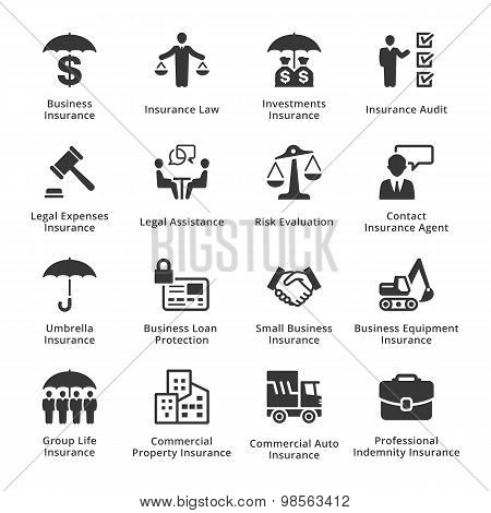Business Insurance Icons