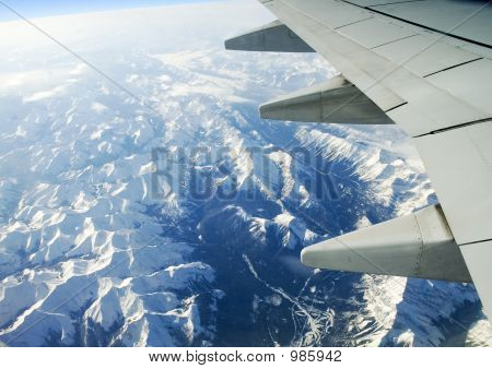 Canadian Rockies;Aerial View