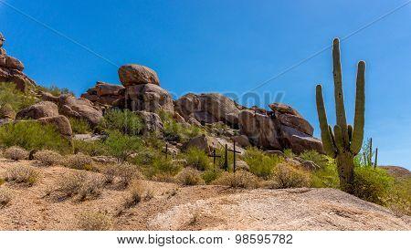 Three Crosses on a Hillside in the Arizona Desert