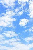 Sky background - only clouds in the blue sky (vertical) poster