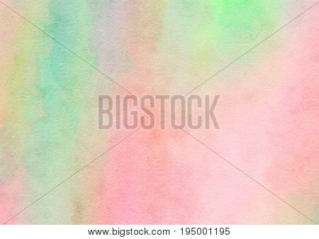 A digitally painted watercolour background paper texture with blended hues of pink and green.