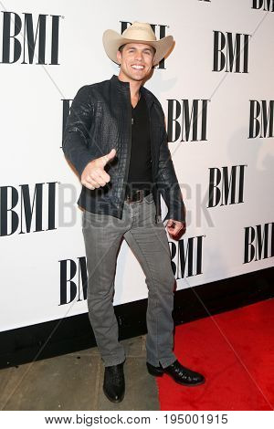 NASHVILLE, TN-NOV 3: Recording artist Dustin Lynch attends the 63rd annual BMI Country awards on November 3, 2015 in Nashville, Tennessee.