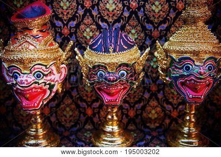 Hua Khon Thai Traditional Mask