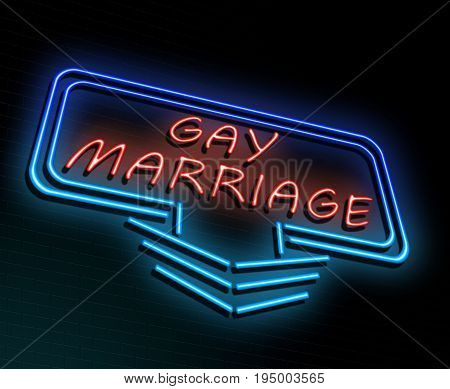 Gay Marriage Concept.