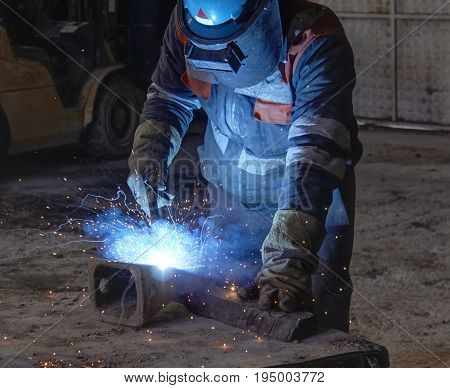 welds at the factory, weld,welding at the factory