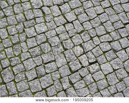 Paving Stones With Moss In The Gaps Background Texture