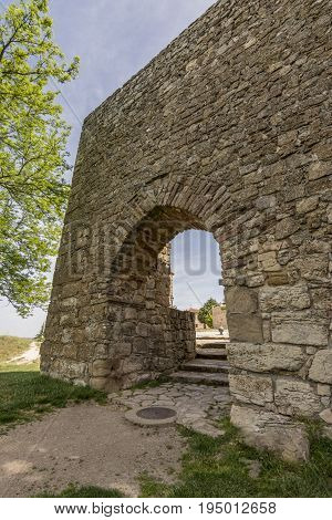 Arab gate on the walls of Medinaceli. Medinaceli is an ancient and historic town in the province of Soria, in Castile and Leon, Spain.