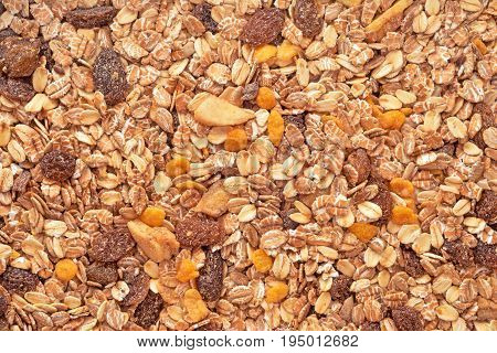 dry fruits and nuts muesli mix background