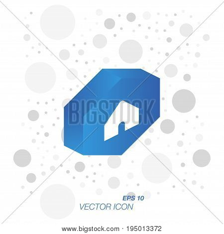 Home Icon In 3D Isometric Style Isolated On White Background. Symbol For Your Web Design And Logo. V