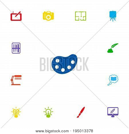 Set Of 13 Constructive Icons Set.Collection Of Case, Photo, Gadget And Other Elements.