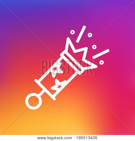 Isolated Petard Outline Symbol On Clean Background. Vector Firecrackers Element In Trendy Style.