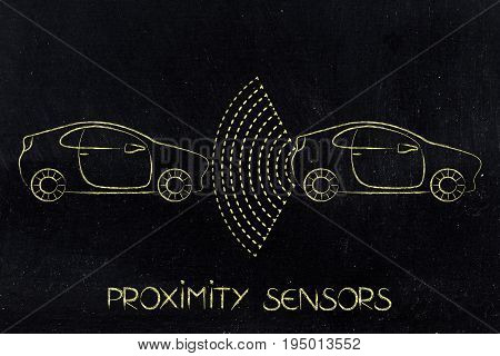 Vehicle With Sensors Detecting Proximity With Another Behind It