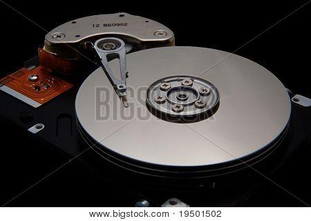 Disk Drive on Black