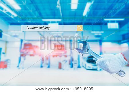 Industry solution or Problem Solving Concept background.
