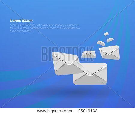 E-Mail concept Mail flying envelope letter flying