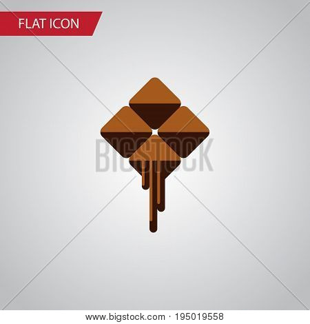 Isolated Cocoa Flat Icon. Delicious Vector Element Can Be Used For Cocoa, Chocolate, Delicious Design Concept.