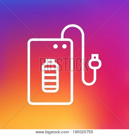 Isolated Supply Outline Symbol On Clean Background. Vector Powerbank Element In Trendy Style.