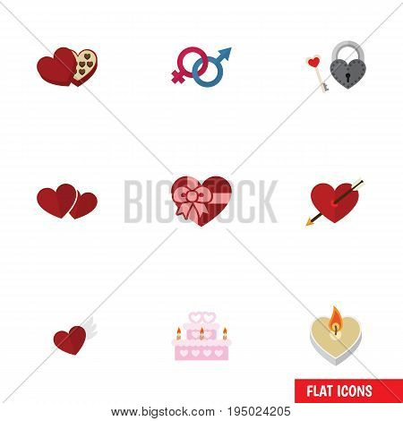 Flat Icon Amour Set Of Key, Fire Wax, Soul And Other Vector Objects. Also Includes Arrow, Fire, Soul Elements.