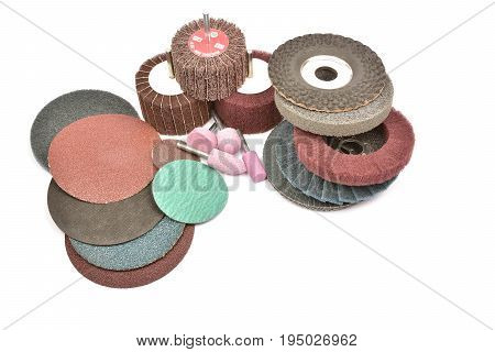 Abrasive Wheels Isolated On A White Background