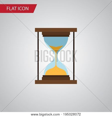 Isolated Minute Measuring Flat Icon. Instrument Vector Element Can Be Used For Instrument, Timer, Sandglass Design Concept.