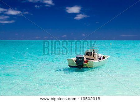 Motor Boat on Azure Seas