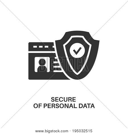 Protection of personal data. Internet security information protection minimal flat icon
