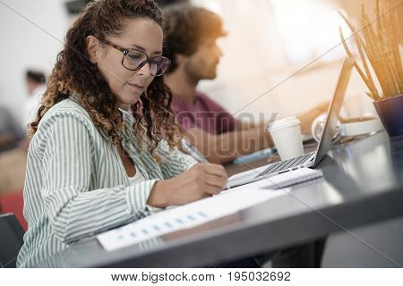 Young entrepreneur women working in office on laptop