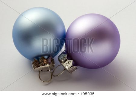 A Lilac And Blue Christmas Baubles