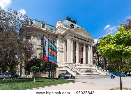 National Museum And Academy Of Fine Arts (academia De Bellas Artes) In Santiago, Chile