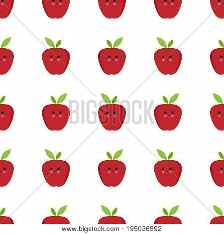 Apple cartoon seamless childlike pattern vector paper, decorative, organic, summer