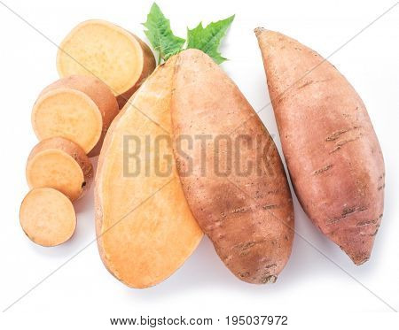 Sweet potato. Isolated on a white background.
