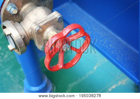 Valve installed onboard the modern ship