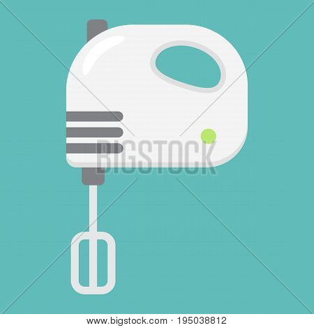 Hand mixer flat line icon, household and appliance, vector graphics, a colorful solid pattern on a white background, eps 10.