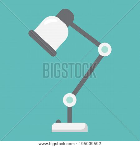 Desk lamp flat icon, table lamp and appliance, vector graphics, a colorful solid pattern on a white background, eps 10.