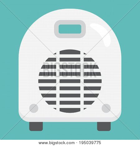 Electric fan heater flat icon, household and appliance, vector graphics, a colorful solid pattern on a white background, eps 10.