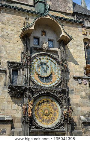 The Astronomical Clock At The Town Hall Of Prague, Czech Republic