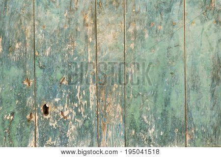 vintage door lock of external antique wooden door weathered on a Country house texture