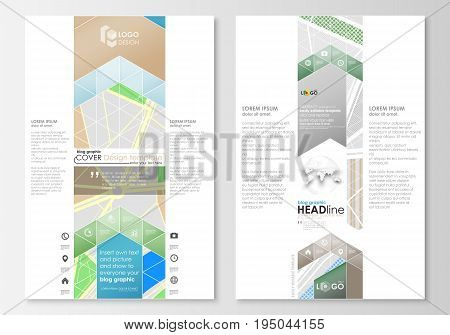 Blog graphic business templates. Page website design template, easy editable, abstract flat layout. City map with streets. Flat design template for tourism businesses, abstract vector illustration.