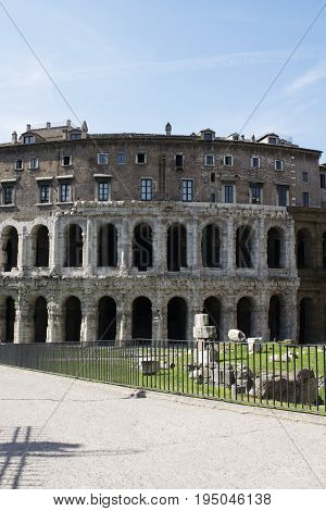 Theatre of Marcellus the ancient open-air theatre in Rome Italy