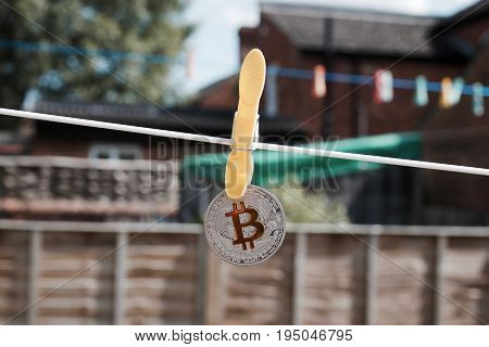 Yellow Bitcoin Coin
