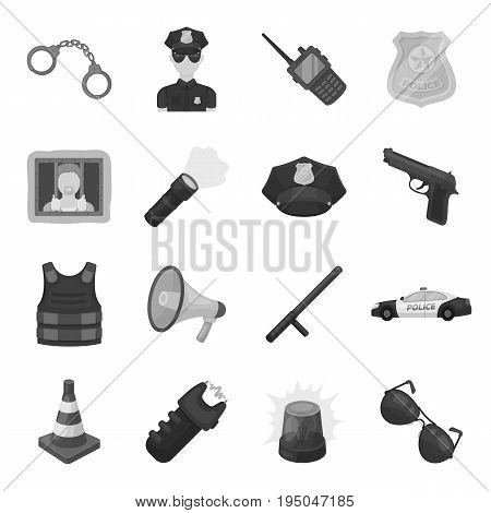 Collar, pet food and other products. Pet shop set collection icons in monochrome style vector symbol stock illustration .