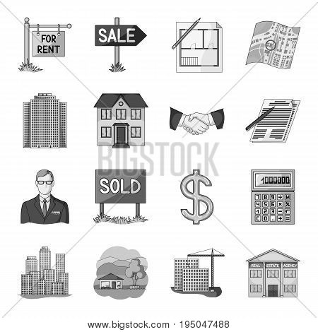 Realistic animals set icons in monochrome design. Big collection of realistic animals vector symbol stock illustration