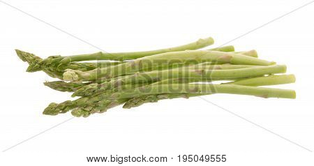 Bunch Of Green Asparagus Isolated On White Background
