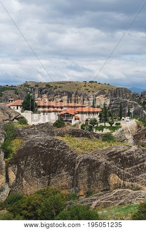 Monastery of the Holy Trinity (Agia Triada), Meteora, UNESCO World Heritage Site, Trikala, Greece