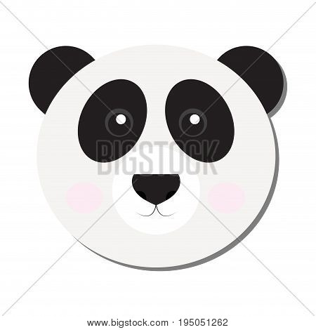 Isolated cute panda face on a white background, Vector illustration