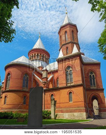 Ancient Aarmenian church in Chernivtsy built in 1875 Ukraine. Armenian church is very popular among tourists.
