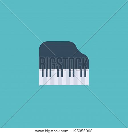 Flat Icon Piano Keys Element. Vector Illustration Of Flat Icon Octave Keyboard  Isolated On Clean Background. Can Be Used As Piano, Keys And Octave Symbols.
