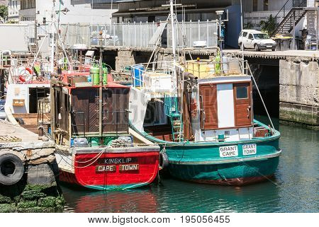 Cape Town South Africa - March 02 2017: Cape Town Harbour